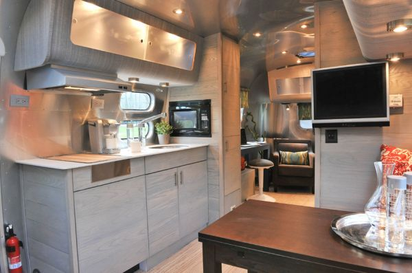 Luxury Living On Wheels 48 Stunning RVs That Will Make You Drool Beauteous Airstream Interior Design Minimalist