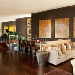 Commanding A Presence Dark Accent Walls That Make Statement