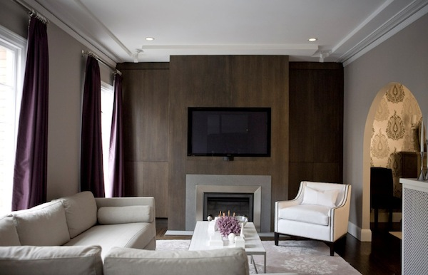 accent walls dark wood wall