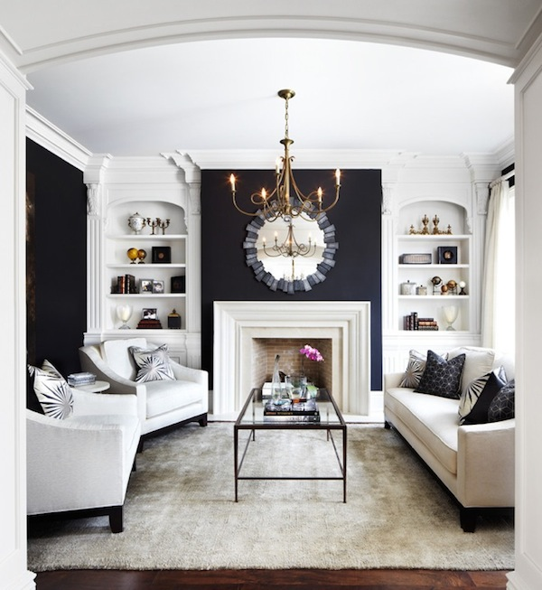 Painted Accent Wall Behind Corner Fireplace: Commanding A Presence: Dark Accent Walls That Make A Statement
