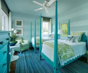 10 Bold But Soothing Turquoise Bedroom Interior Design Concept