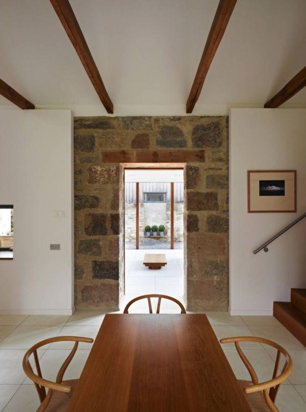 Focusing On Views With A Modern Addition To An Old House: Old Mill Turned Into A Contemporary Home In Scotland