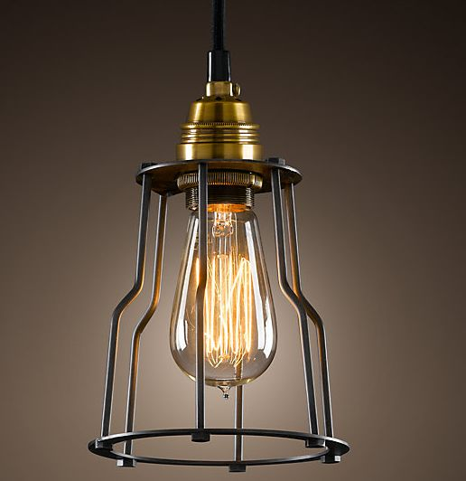 Eye catching industrial style lighting fixtures for A lamp and fixture