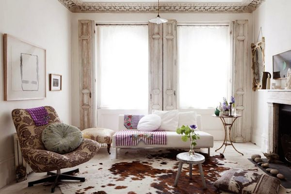 Cozy and very chic london home with a touch of classic for Meuble classique chic