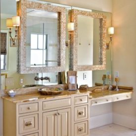 double mirrors bathroom vanity