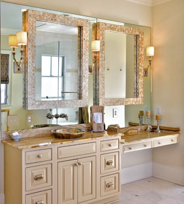 Merveilleux Double Mirrors Bathroom Vanity