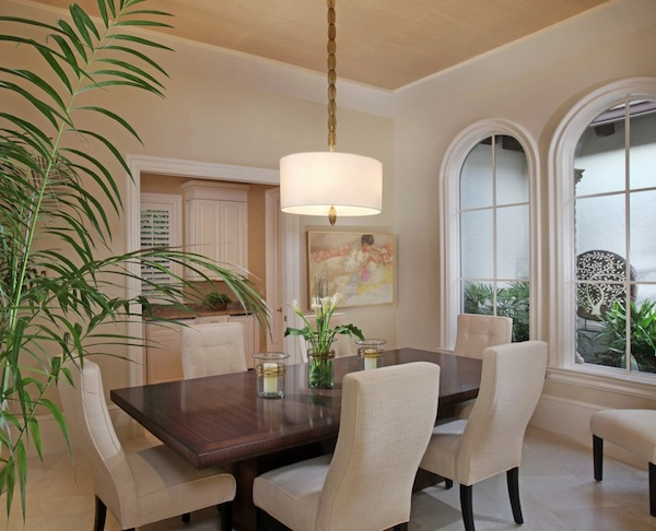 Delightful Drum Pendant Lighting Formal Dining Room
