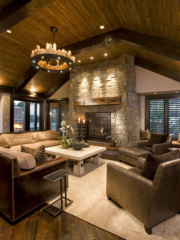 choosing rustic living room choosing paint stone wood and leather how to pull off an eclectic look in living room