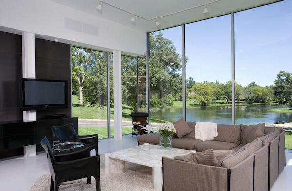 floor to ceiling windows modern living room