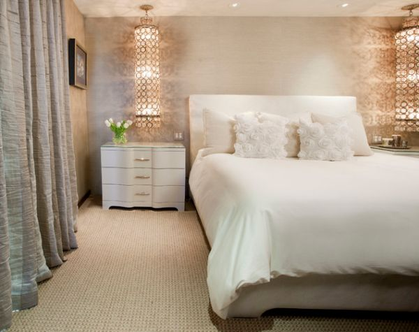 Bedroom Designs That Add Glamor: no dresser in master bedroom