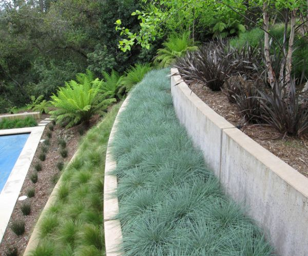 Landscape design inspiration for a hilly garden for Garden design inspiration