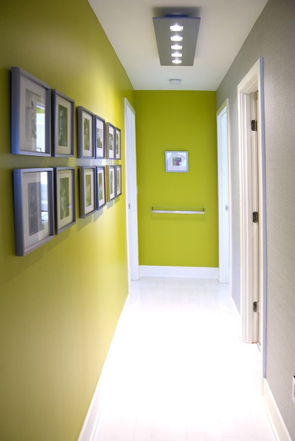 Painting Hallways how to use green successfully in a hallway