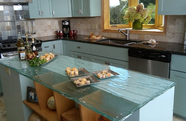kitchen glass counters ideas