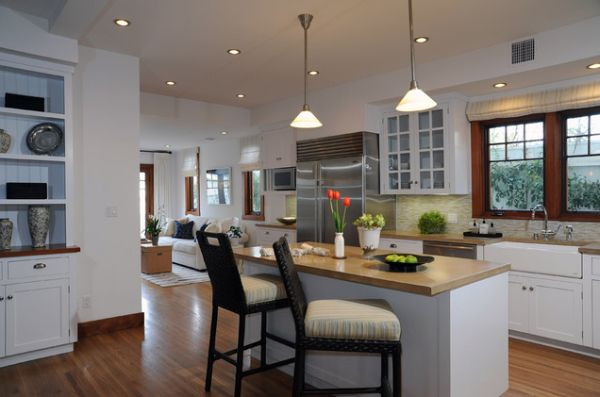 View in gallery A kitchen island ... : small-kitchens-with-islands-for-seating - designwebi.com