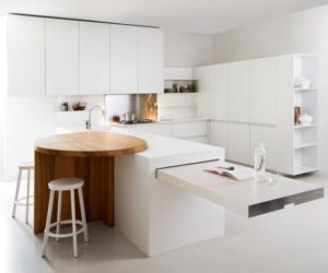 The compact, stylish and minimalist Slim kitchen designed by Elmar