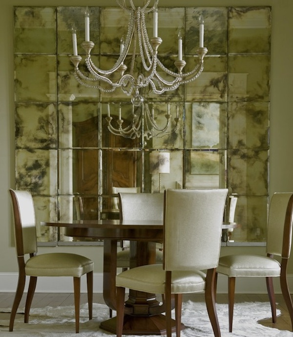 mirrors wall dining room