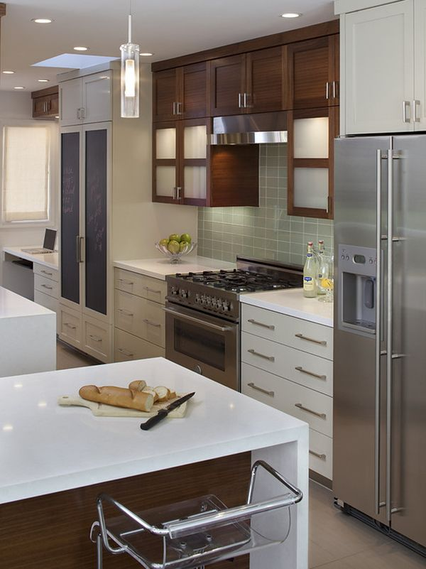 mixing kitchen cabinet colors kitchen trends for 2013 7547