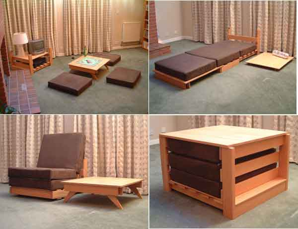 17 multi purpose furniture that changes function in no time - Semi basement house plans multifunctional spaces ...