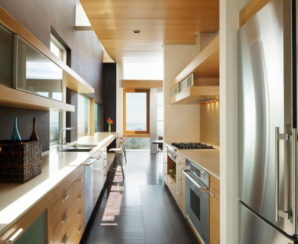 Form AND Function In A Galley Kitchen Best Corridor Kitchen Design Concept