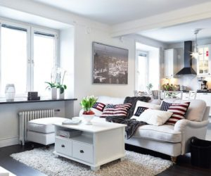 Charming Nordic White Apartment Interior Design