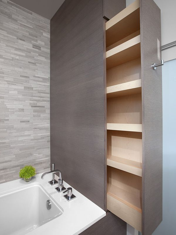 bathroom storage. Sliding Storage Ideas  Five Great Bathroom Solutions