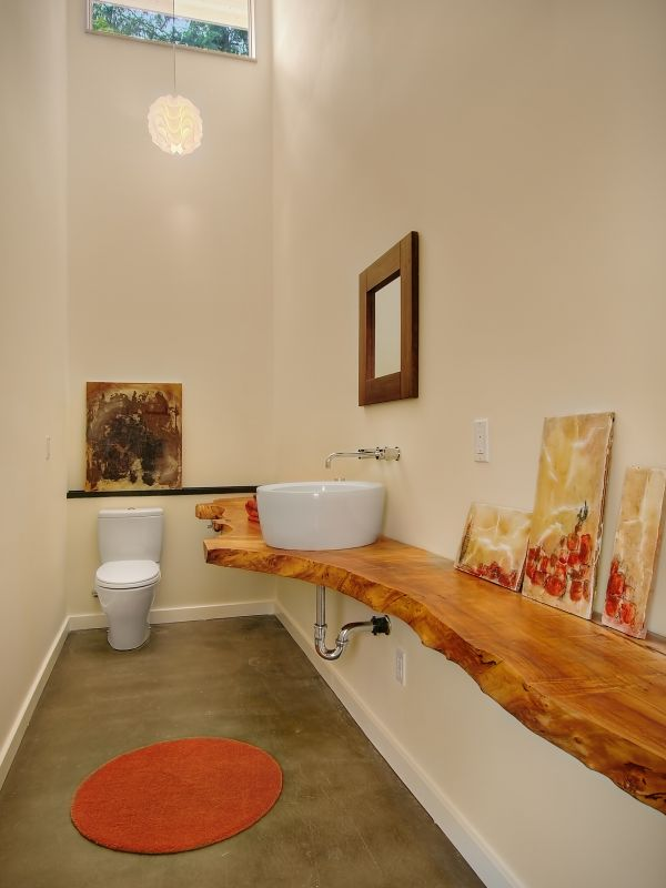 Wooden Bathroom Countertops.
