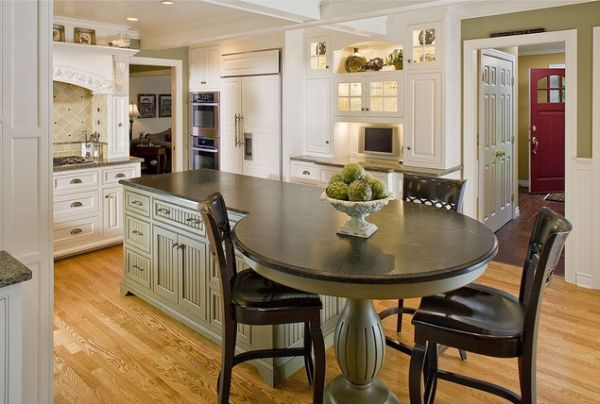 37 Multifunctional Kitchen Islands With Seating : round kitchen island from www.homedit.com size 600 x 404 jpeg 46kB