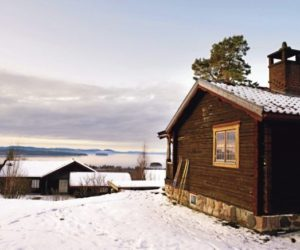 A very charming and rustic Scandinavian home with views of the lake