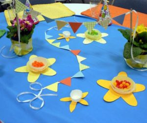 Three Spring Paper Garland Decorations