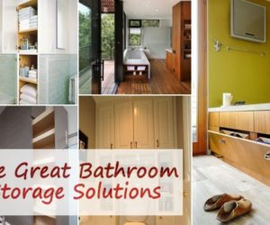 ... Five Great Bathroom Storage Solutions