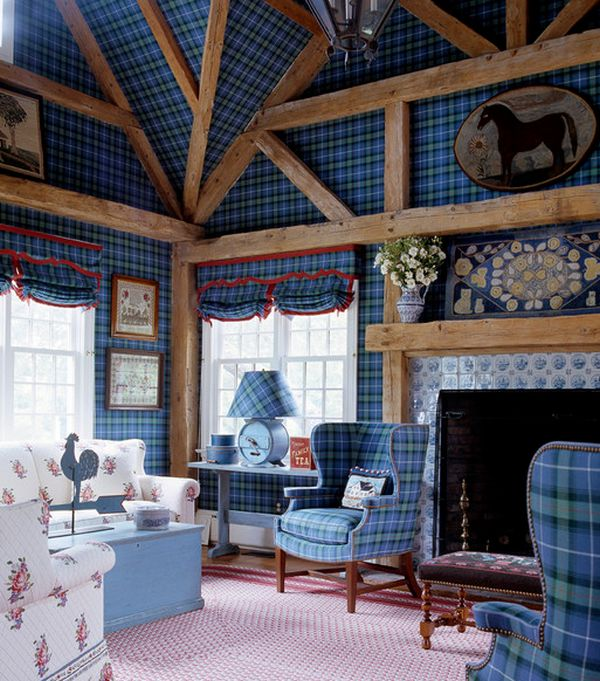 plaid living room furniture. Surfaces  How To Make Tartan Work In A Living Room