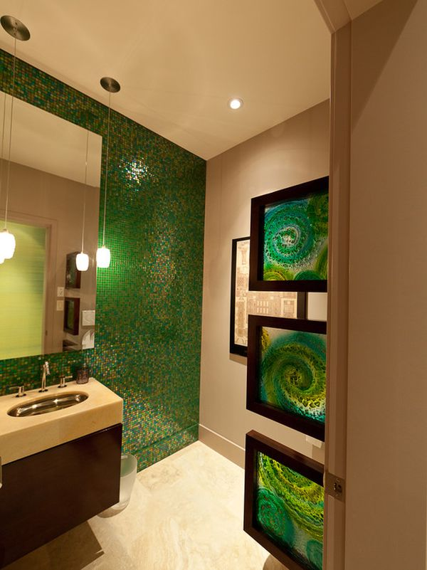 Etonnant How To Use Green In Bathroom Designs