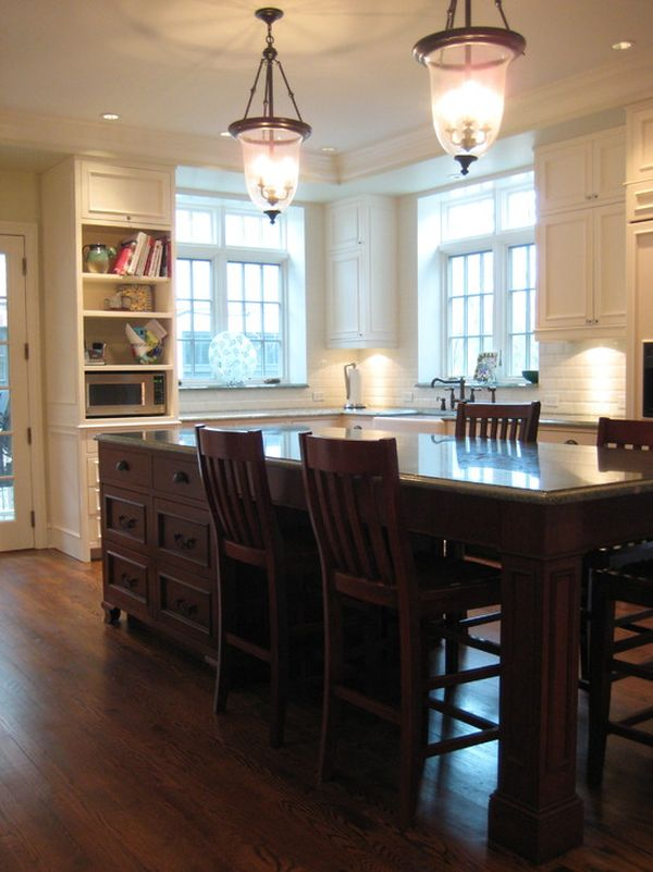 Home Decorating Trends  Homedit 37 Multifunctional Kitchen Islands With Seating