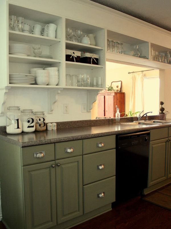 Remove The Upper Cabinet Doors View In Gallery Cottage Style Kitchen