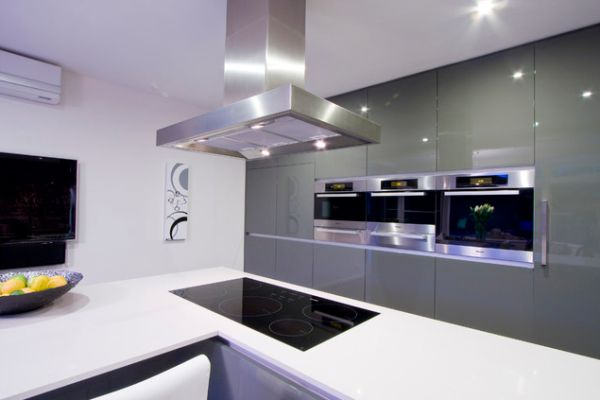 Kitchen Built In Cooktop ~ Induction cooktop kitchen interiors