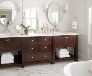 Finding Hidden Bathroom Storage Under Your Open Vanity