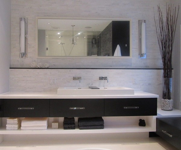 ... Under Vanity Open Storage Modern Ideas
