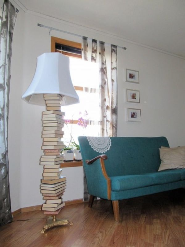 15 creative diy projects featuring recycled old books floor lamp solutioingenieria Images