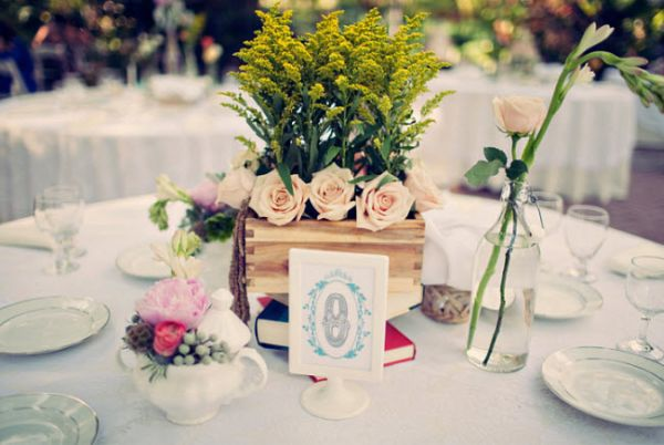 Diy wedding reception centerpiece ideas for Do it yourself table decorations