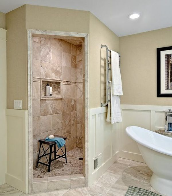 photos of walk in showers. View in gallery  Pros And Cons Of Having A Walk In Shower