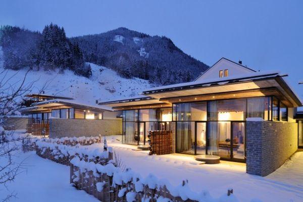 the modern wiesergut hotel on the ski slopes of hinterglemm. Black Bedroom Furniture Sets. Home Design Ideas