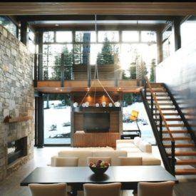winter cabin natural light