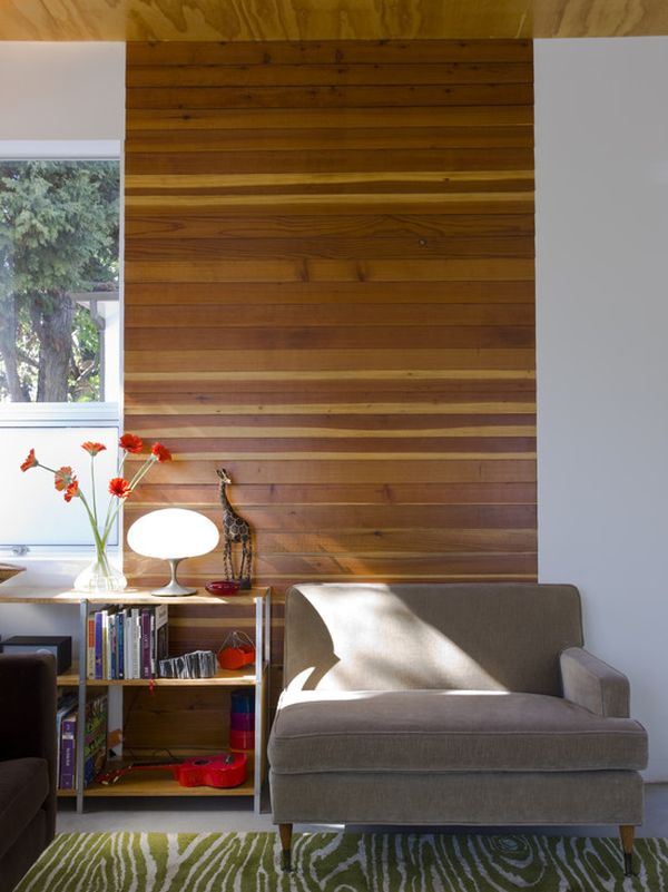 Dark Accent Wood Wall
