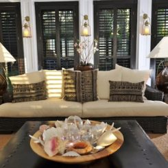 wood shutters interiors resort