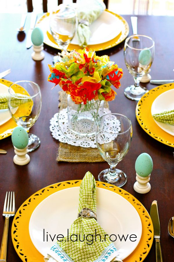 5 springtime tablescape ideas. Black Bedroom Furniture Sets. Home Design Ideas