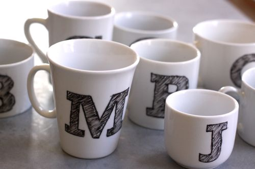 10 diy hand painted mugs a great gift for everyone for Coffee mug craft kit