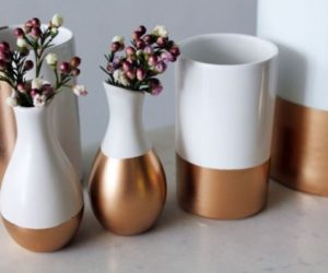 DIY gold-dipped home accessories and decorations