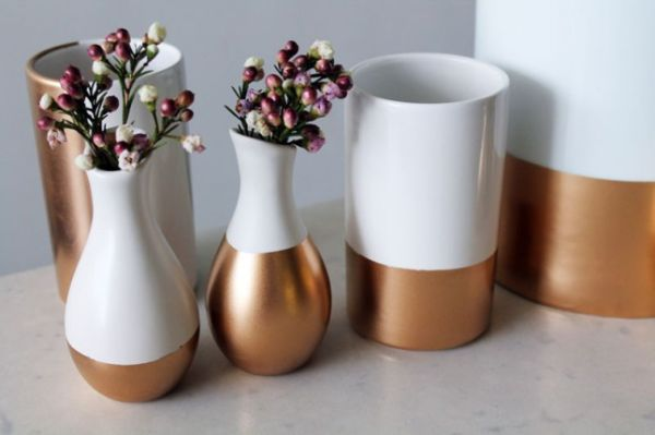 Diy Gold Dipped Home Accessories And Decorations