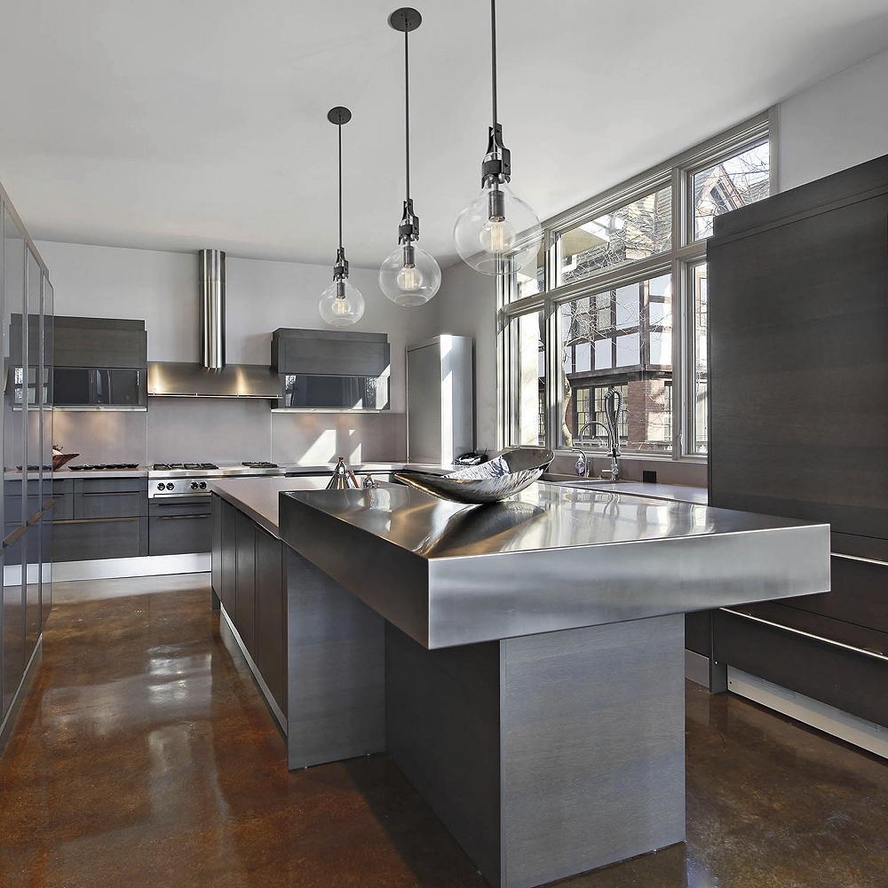 Hang Glass Light Fixtures in kitchen