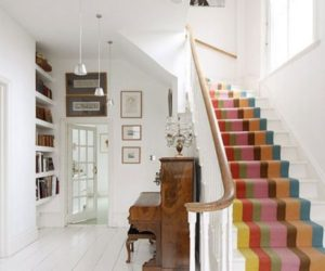 Rainbow stairs – a simple way of adding color and dynamism to a décor